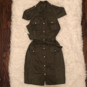 PRICE DROP Express Green Button Down Dress Size 4